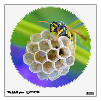 Queen Paper Wasp Tending to Her Nest Wall Sticker