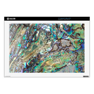 Queen paua shell decal for laptop