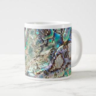 Queen paua shell giant coffee mug