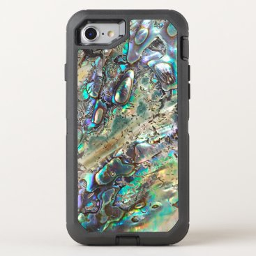 parisjetaimee Queen paua shell OtterBox defender iPhone 7 case