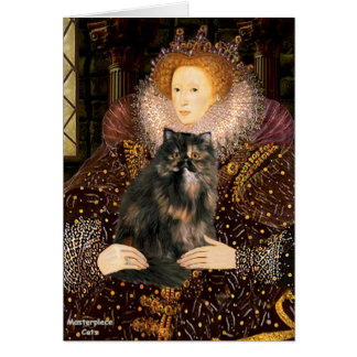Queen - Persian Calico cat Greeting Card