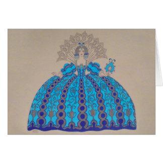 Queen Plate ~ Art Paint Vintage Dress Love Card