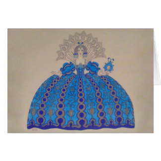 Queen Plate Art Paint Vintage Dress Love Greeting Cards