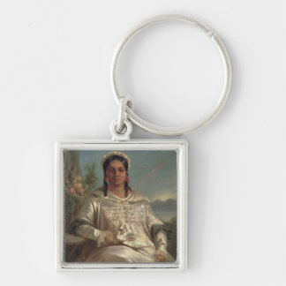 Queen Pomare IV  of Tahiti Keychain