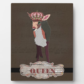 Queen Pretty Pink Fawn Chocolate Vintage  Plaque