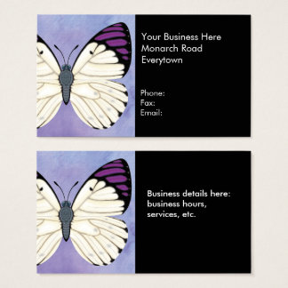 Queen Purple Tip Butterfly Business Card