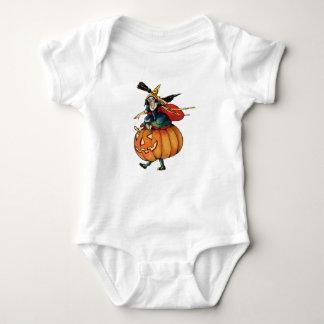 Queen Reaper (Vintage Halloween Card) Baby Bodysuit