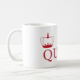 Queen Red Crown - customizable background color Coffee Mug