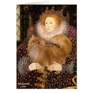 Queen - Red Persian cat Card