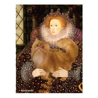 Queen - Red Persian cat Postcard