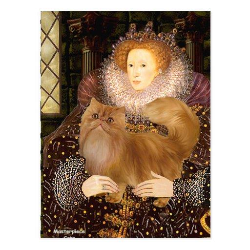 Queen - Red Persian cat Postcards
