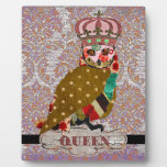 Queen Rose Owl Love Damask Plaque
