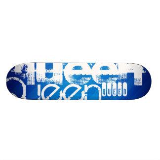Queen; Royal Blue Stripes Skateboard