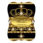 Queen Royal Gold Diamond Crown Birthday Party Card