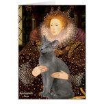 Queen - Russian Blue cat Cards