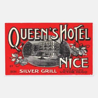 Queen' S Hotel (Nice) Rectangular Sticker