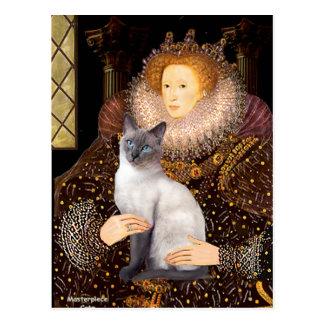 Queen - Siamese (blue point 24) Postcard