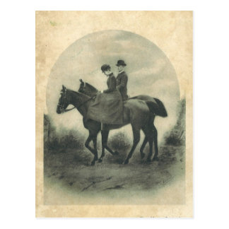 Queen & spouse on horses #016SS Postcard