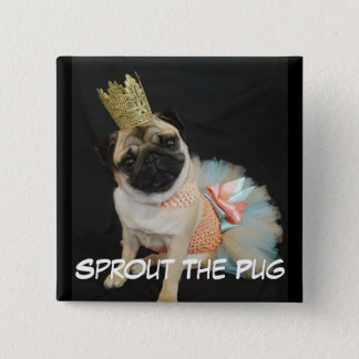 Queen Sprout on a Button