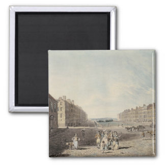Queen Square, London, 1786 (w/c and pen and ink ov Magnet