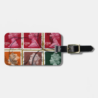 Queen stamp bag tag