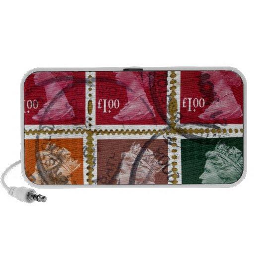 Queen stamp notebook speaker