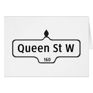 Queen Street West, Toronto Street Sign Card