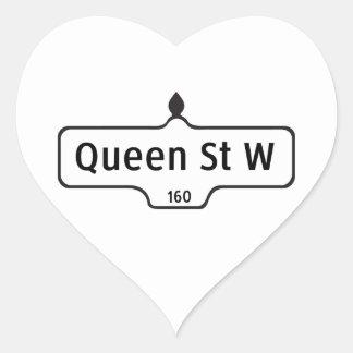 Queen Street West, Toronto Street Sign Heart Sticker