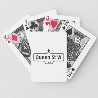 Queen Street West, Toronto Street Sign Bicycle Card Decks
