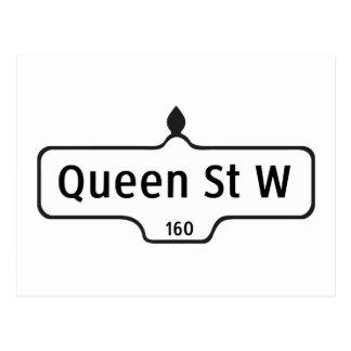 Queen Street West, Toronto Street Sign Postcard