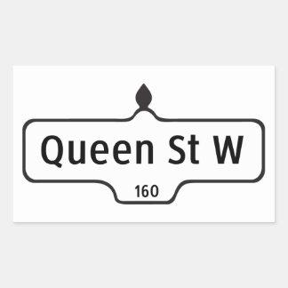 Queen Street West, Toronto Street Sign Rectangular Sticker