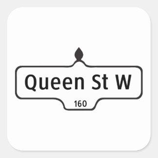 Queen Street West, Toronto Street Sign Square Sticker