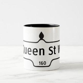 Queen Street West, Toronto Street Sign Two-Tone Coffee Mug