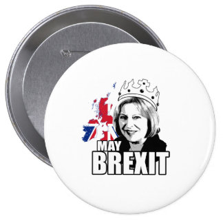 Queen Theresa May Brexit - -  Button