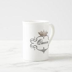 """Queen"" Tiara China Mugs at Zazzle"