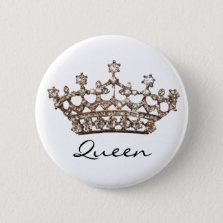 Queen Tiara Gem button