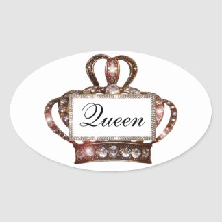 """Queen"" Tiara Label Stickers"