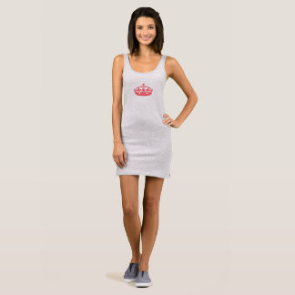 Queen Tiara Party Tee Shirt Tank Dress