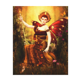 Queen Titania Wrapped Canvas Print