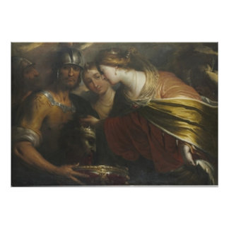 Queen Tomyris with the head of King Cyrus Poster
