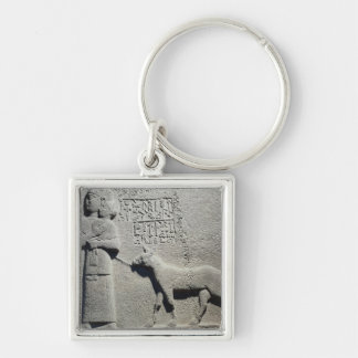 Queen Tuwarissa, wife of King Araras Silver-Colored Square Keychain