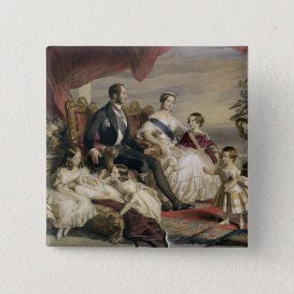 Queen Victoria (1819-1901) and Prince Albert (1819 Button