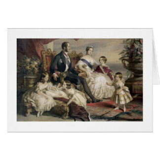 Queen Victoria (1819-1901) and Prince Albert (1819 Card