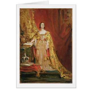 Queen Victoria (1819-1901) Taking the Coronation O Card