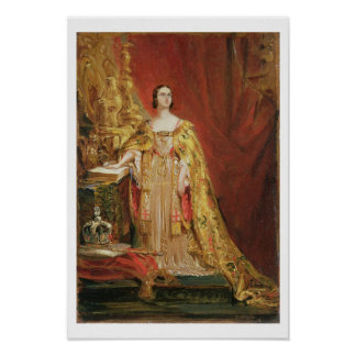 Queen Victoria (1819-1901) Taking the Coronation O Poster