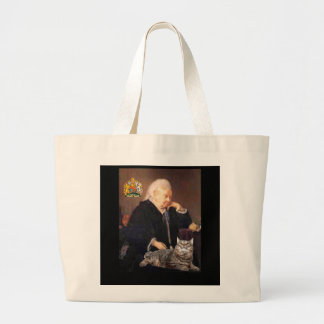 "Queen Victoria and her Cat """"Dusty"" Large Tote Bag"