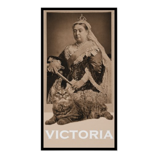Queen Victoria and Kitty Poster