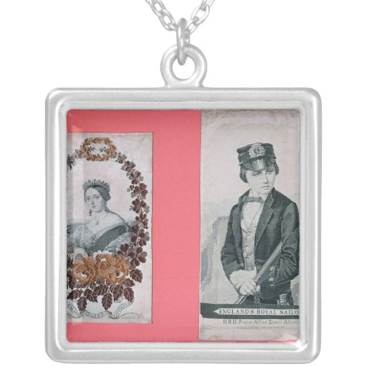 Queen Victoria and Prince Albert bookmarks Silver Plated Necklace