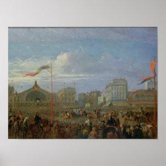 Queen Victoria  Arriving at the Gare de l'Est Poster