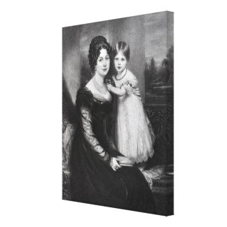Queen Victoria as an infant with her mother Canvas Print